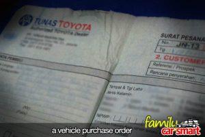 car sales order